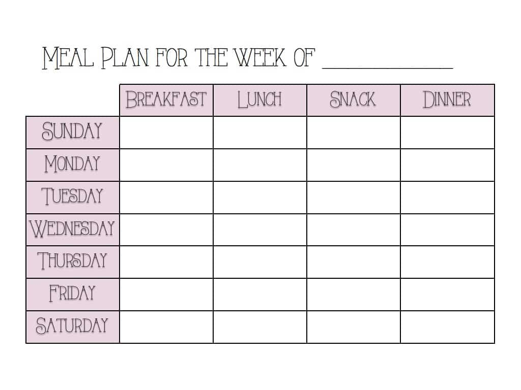 Meal Planning | Earth Powered Family